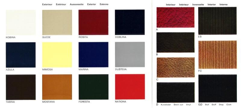 Daf kleuren & bekleding