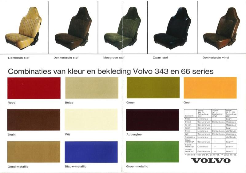 Volvo kleuren & bekleding & specificaties